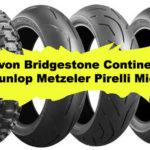 2020 Nové pneumatiky pro motocykly